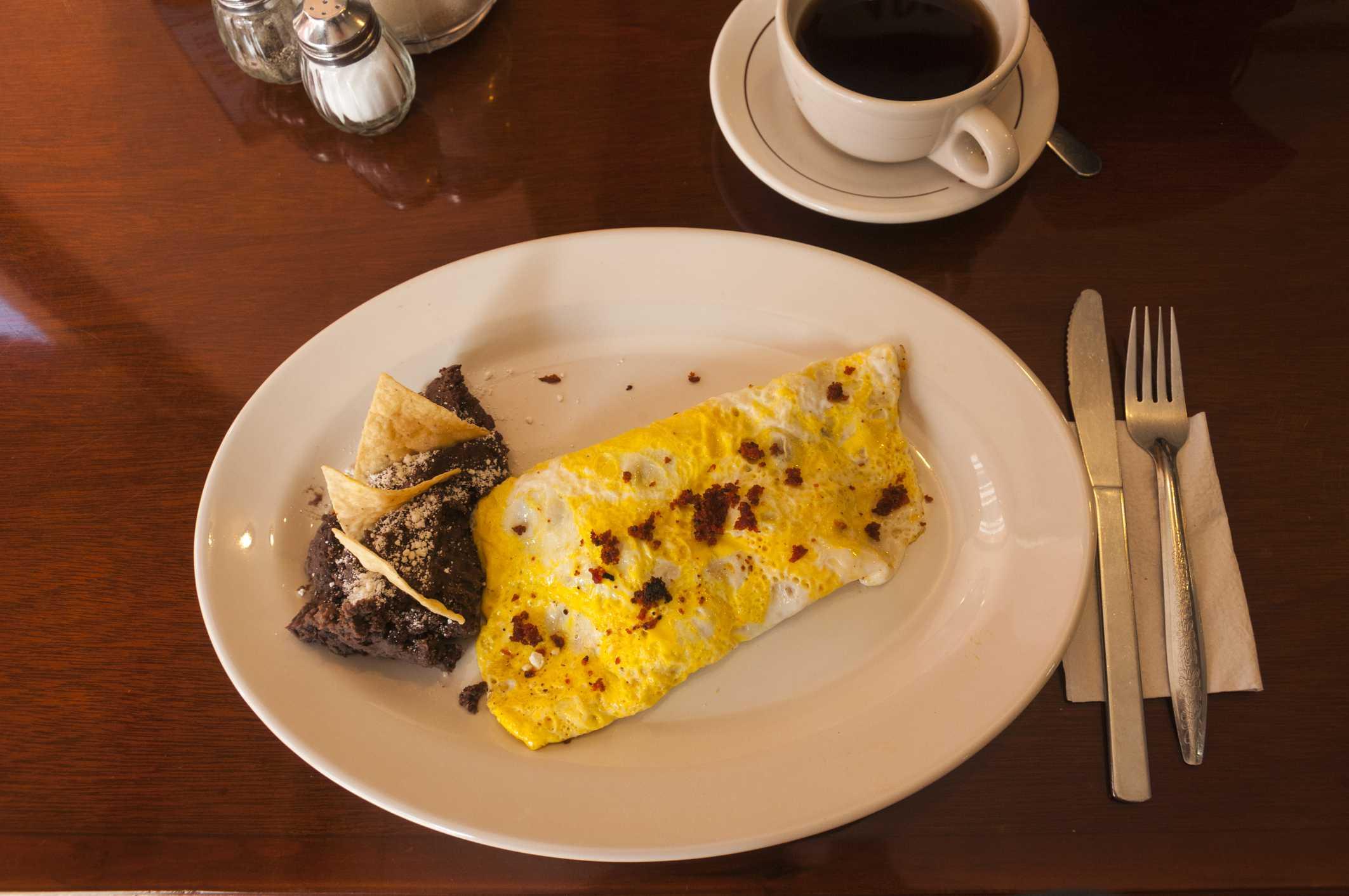 Mexican breakfast plate