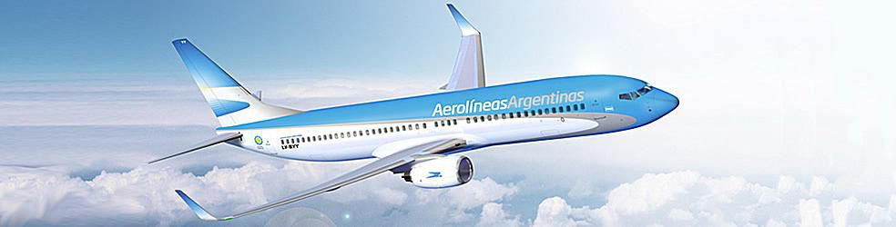 Aerolinas Argentinas plane in the sky