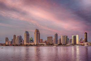 Twilight in Downtown San Diego