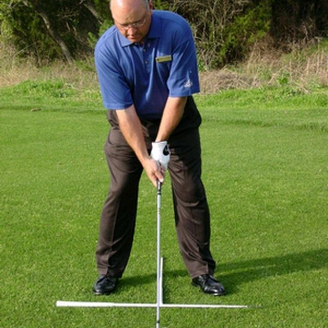 Foot position in the golf stance