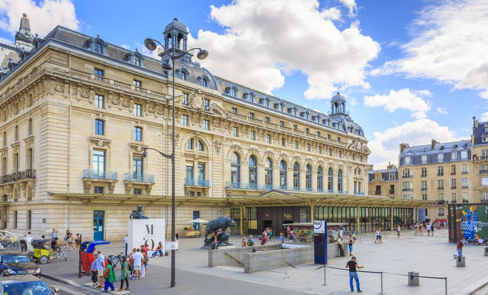 Musee D'Orsay, Paris with some people out front