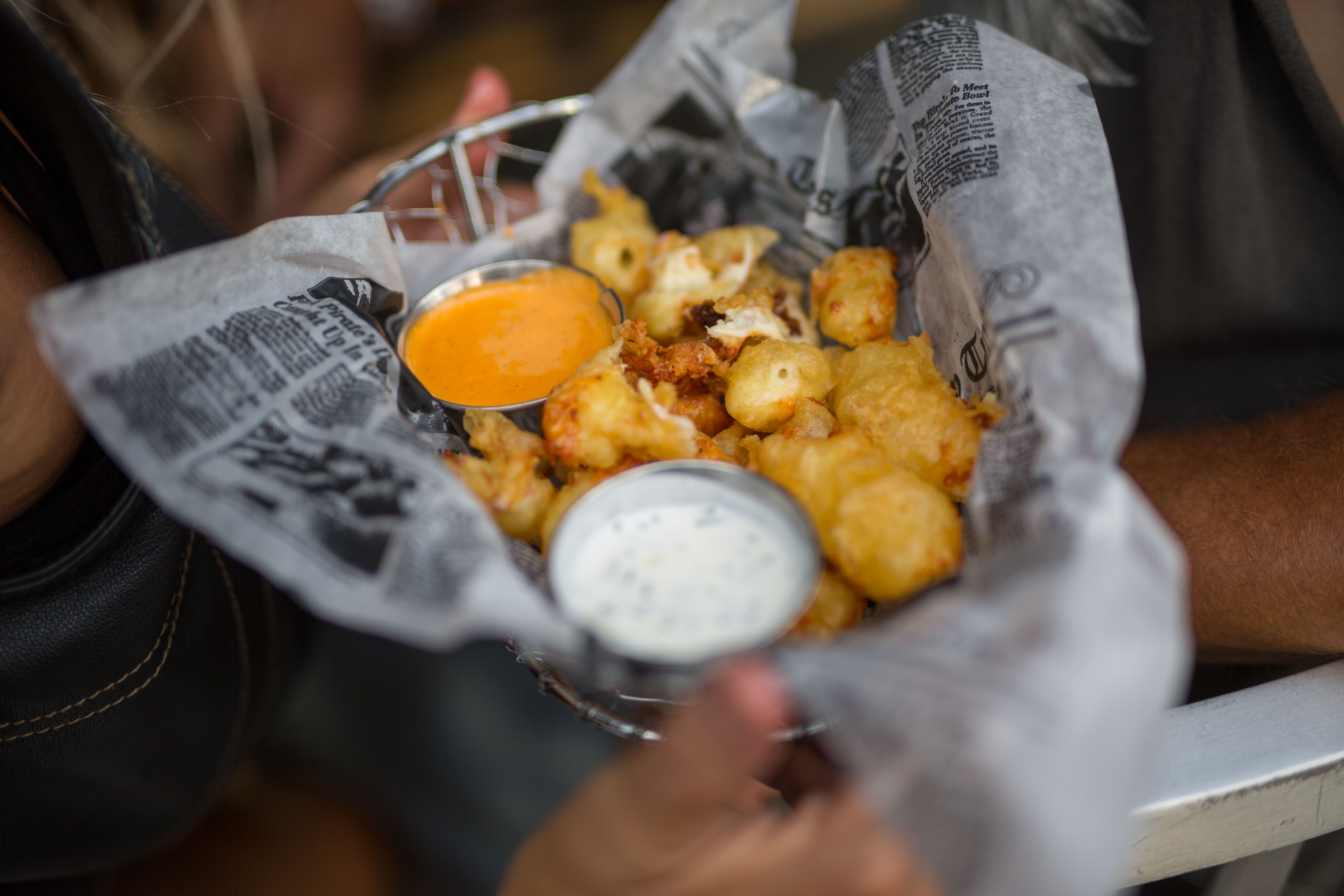 fried cheese curds at Iron Horse Hotel