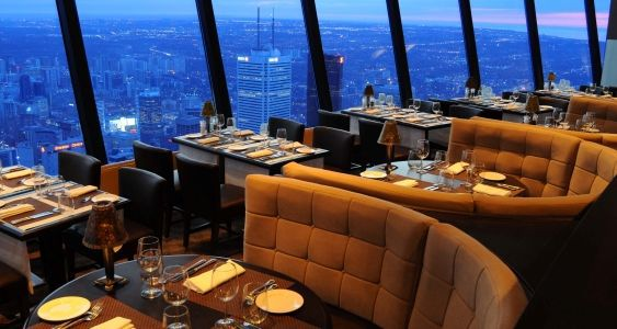 The 360 Restaurant is a revolving restaurant at the top of the CN Tower.
