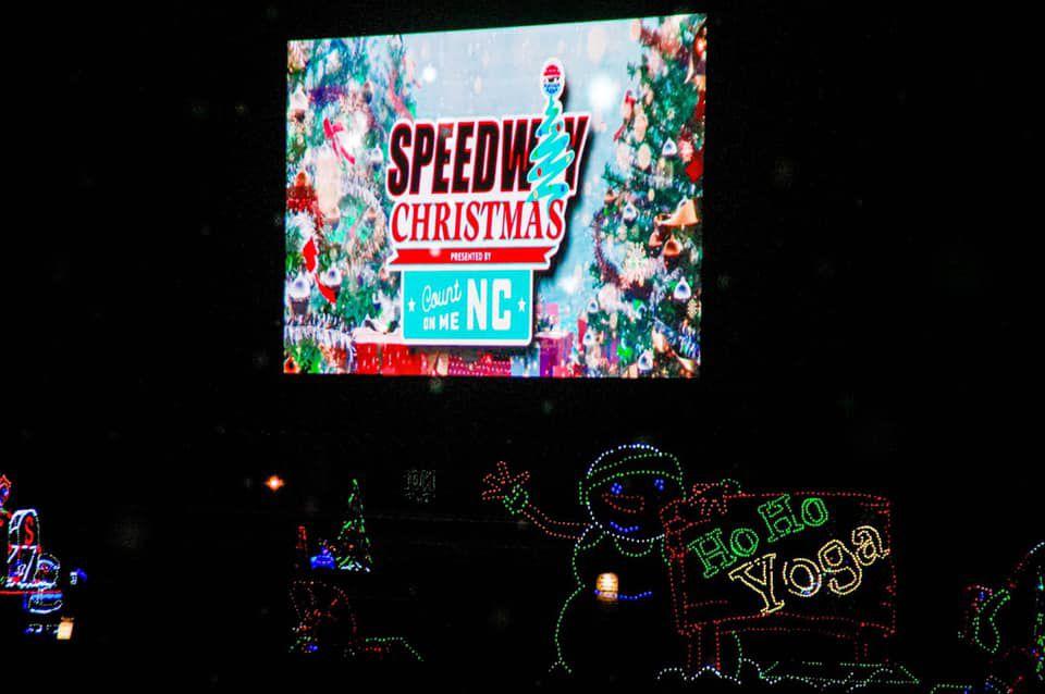 Holiday lights at Charlotte Motor Speedway
