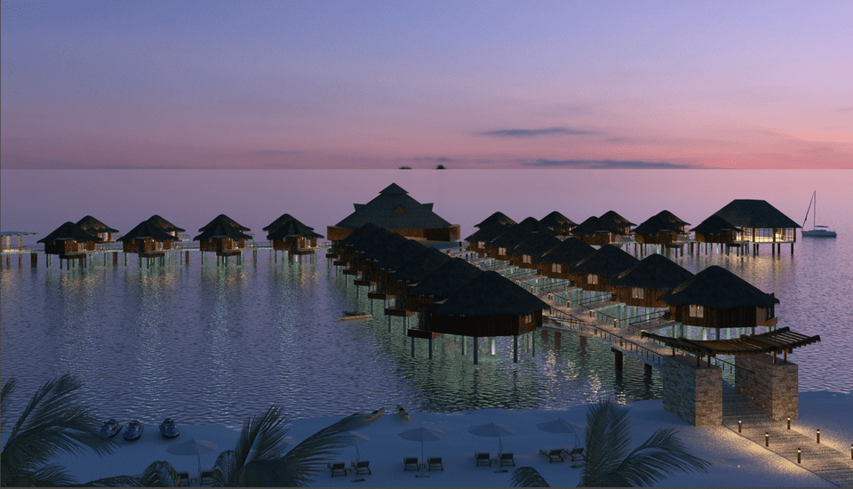 Karisma Resorts overwater bungalows dawn