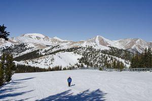 A skier at Monarch Mountain in Colorado