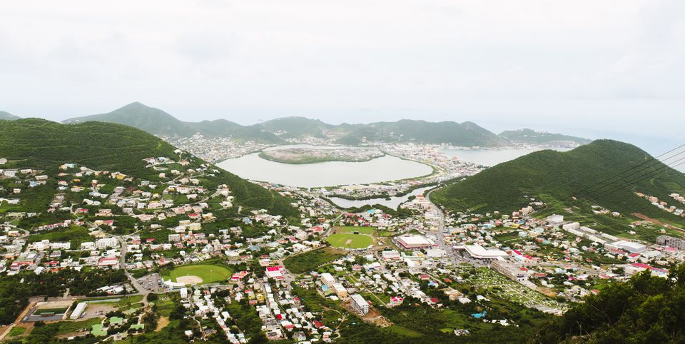 Wide view of St Maarten