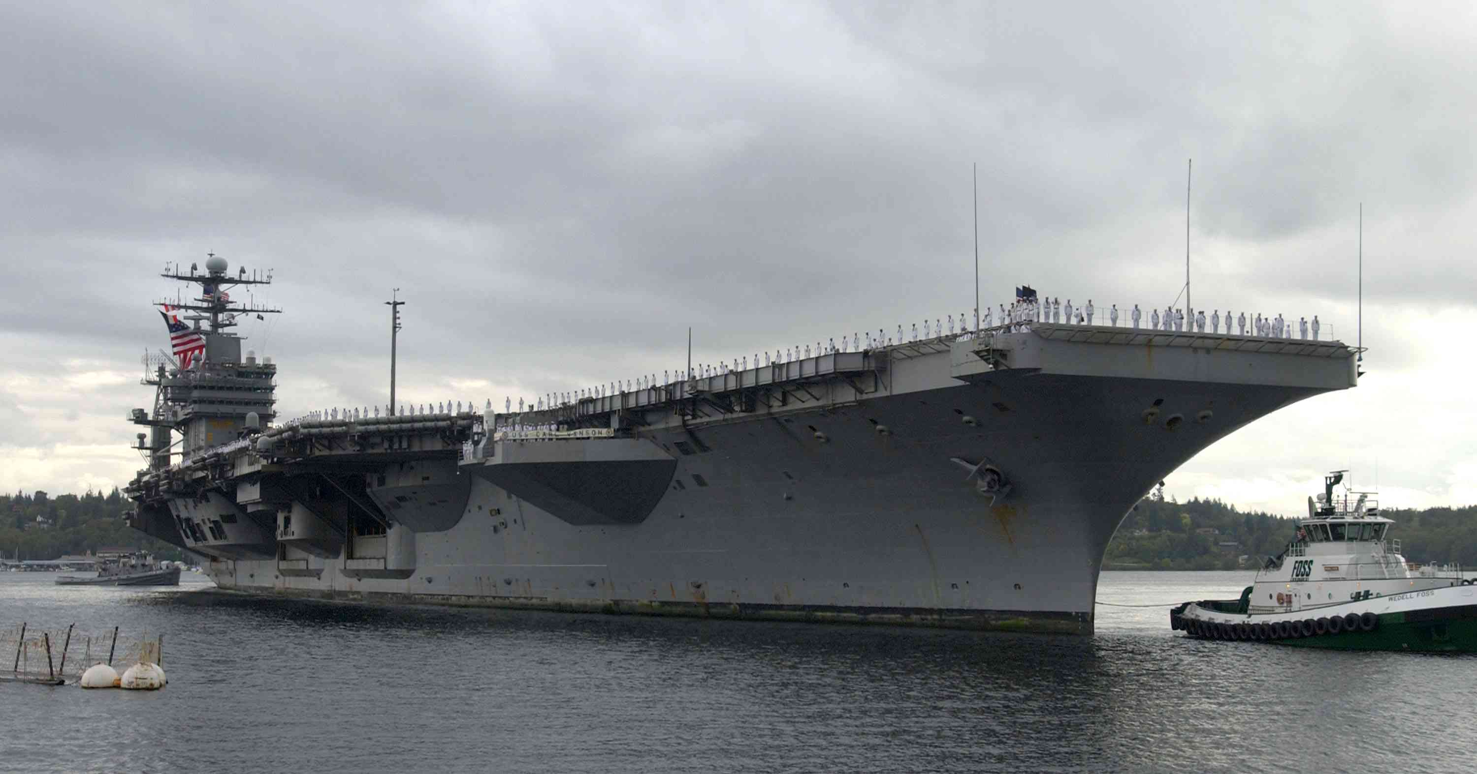 USS Carl Vinson Returns To Port After Eight Months