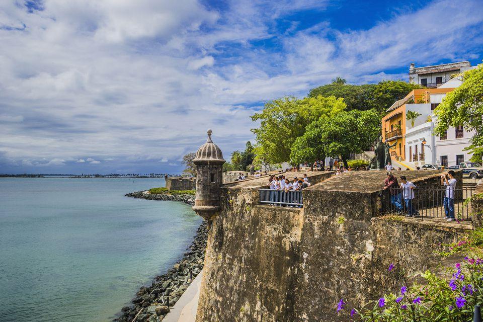 The battlement walls of Old San Juan.