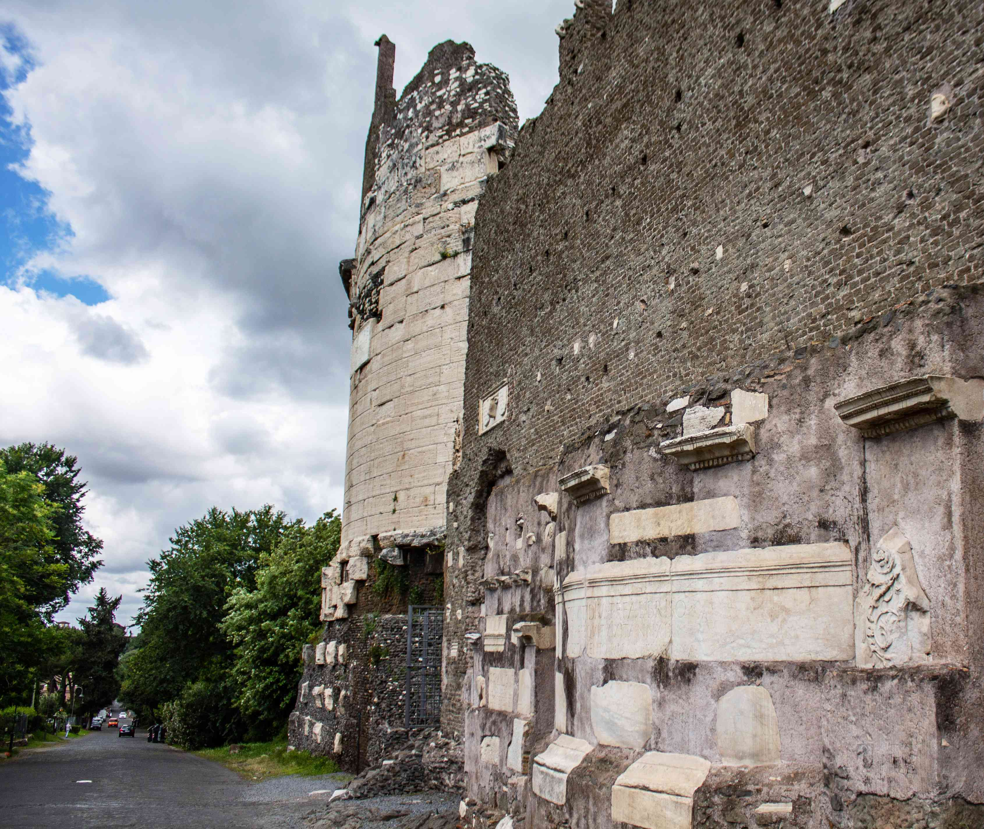 Roman ruins along the Appian Way