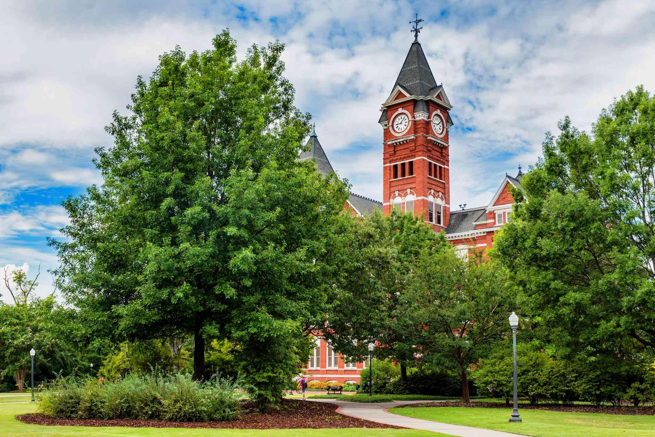 Historic building and campus at Auburn University
