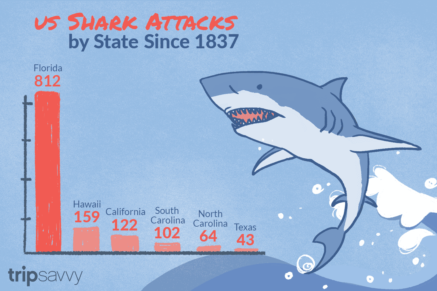 Shark Attacks In The United States By State