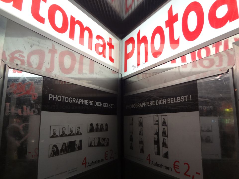 Signo de fotomatón en Berlín