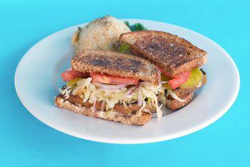Jerk Seitan Sandwich