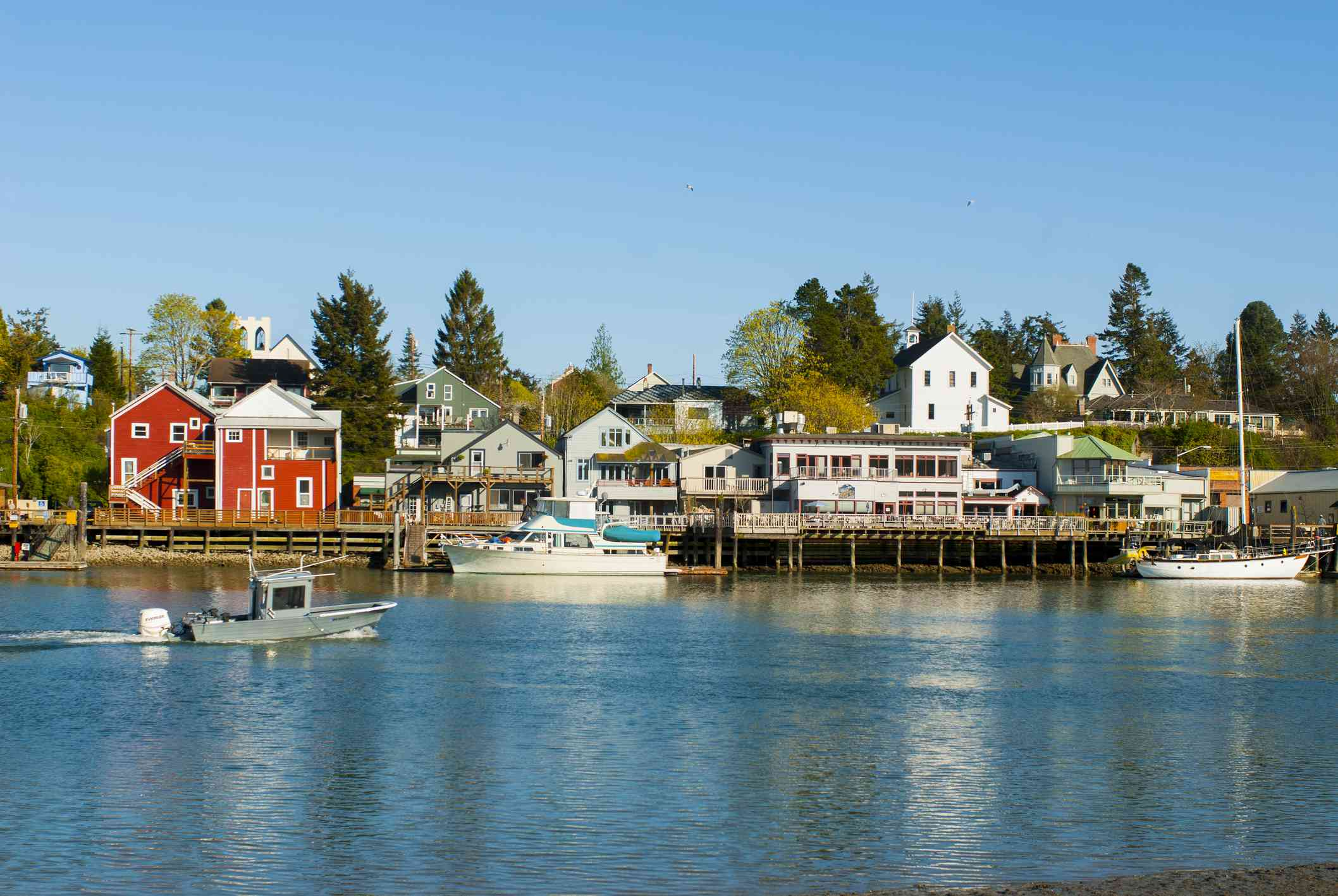 Town of La Conner along the Swinomish Channel, Skagit Valley, Washington State