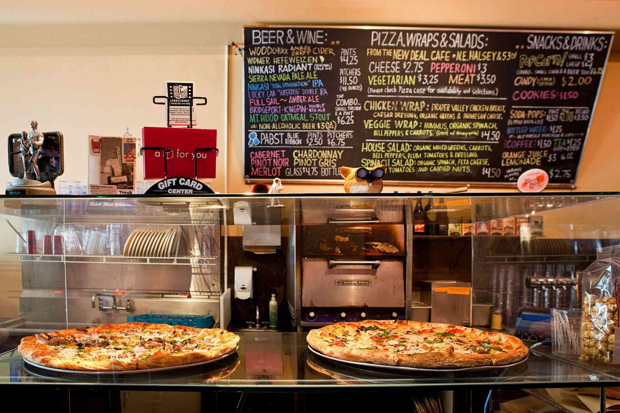Laurelhurst Theater Pizza and menu