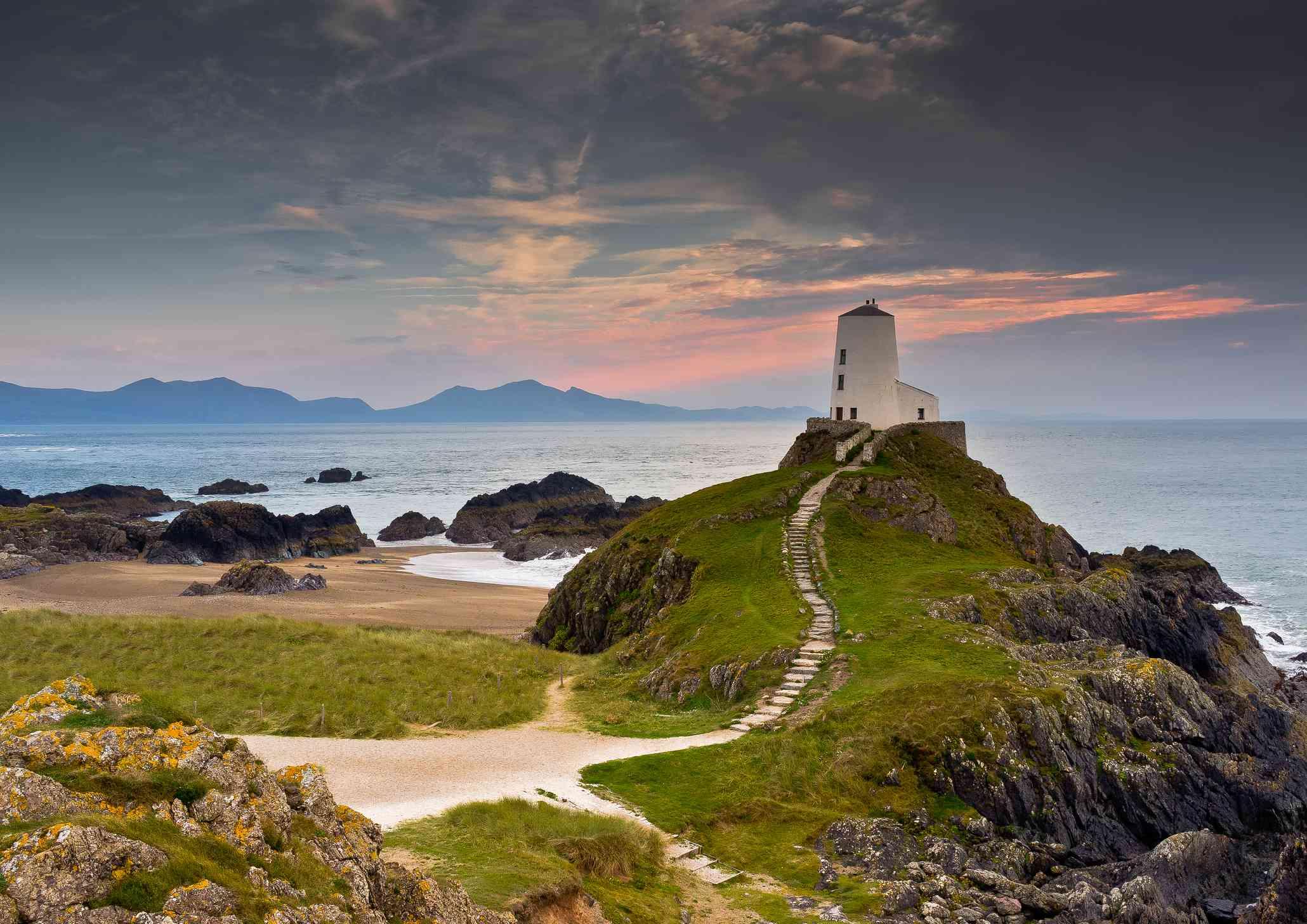 Llanddwyn Lighthouse on Anglesey