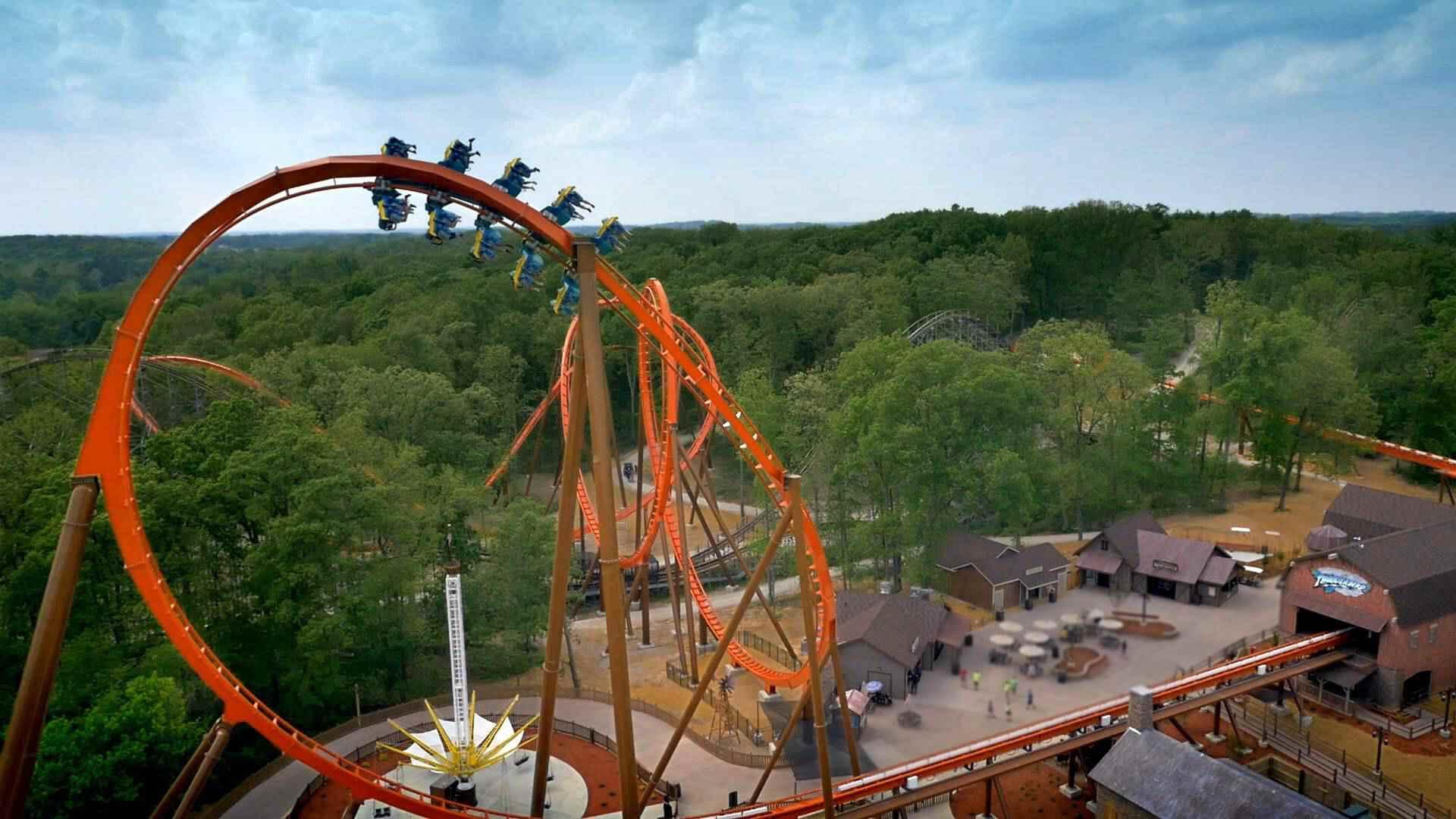 Thunderbird coaster at Holiday World