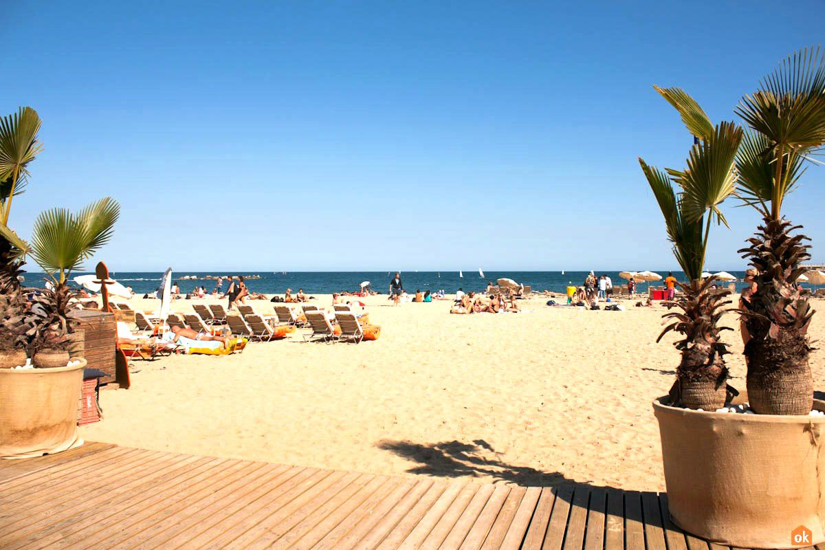 Nova Icaria Beach In Barcelona