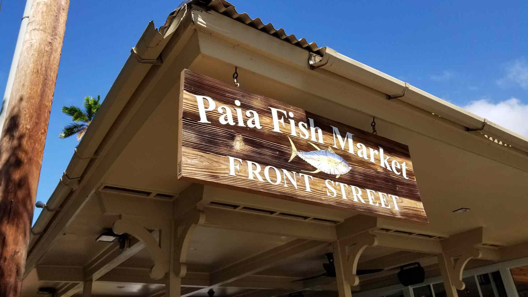 Sign for Paia Fish Market