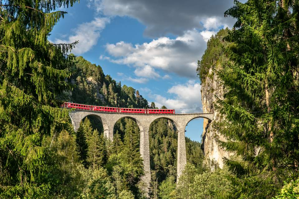 Rhaetian Railway, Switzerland, Europe
