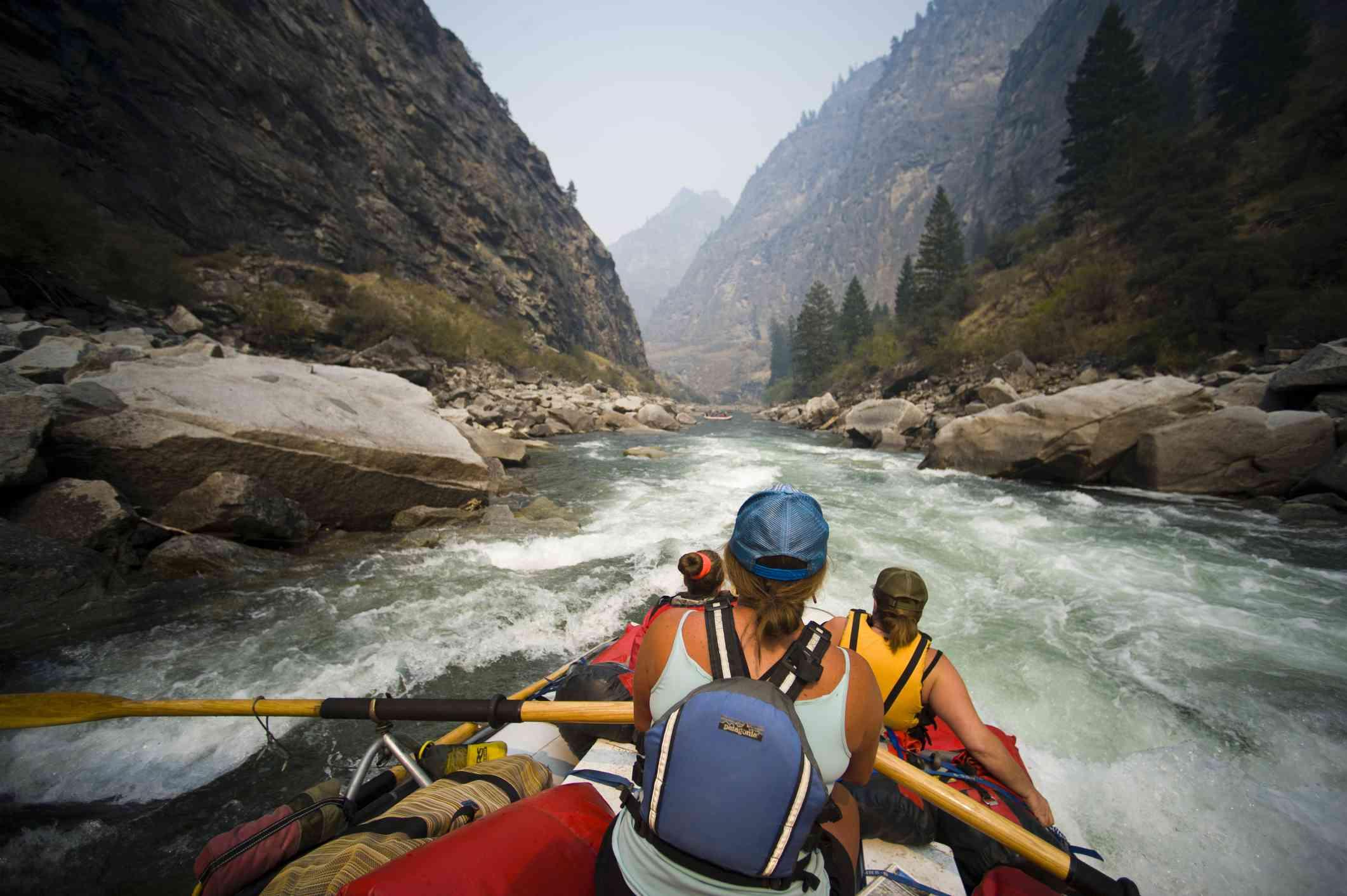 Whitewater rafting on Idaho's Salmon River.