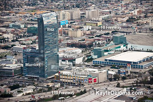 Aerial View of LA Live
