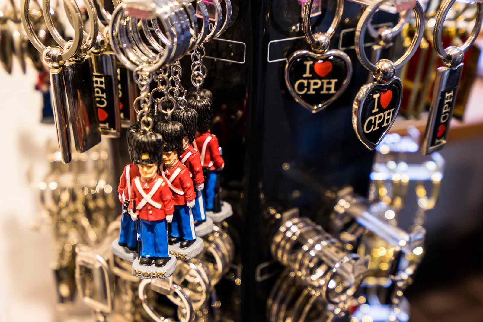 Souvenirs in Copenhagen, Denmark