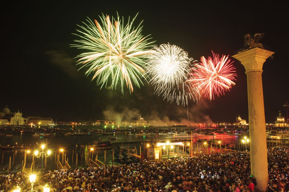 fireworks at redentore festival, Venice