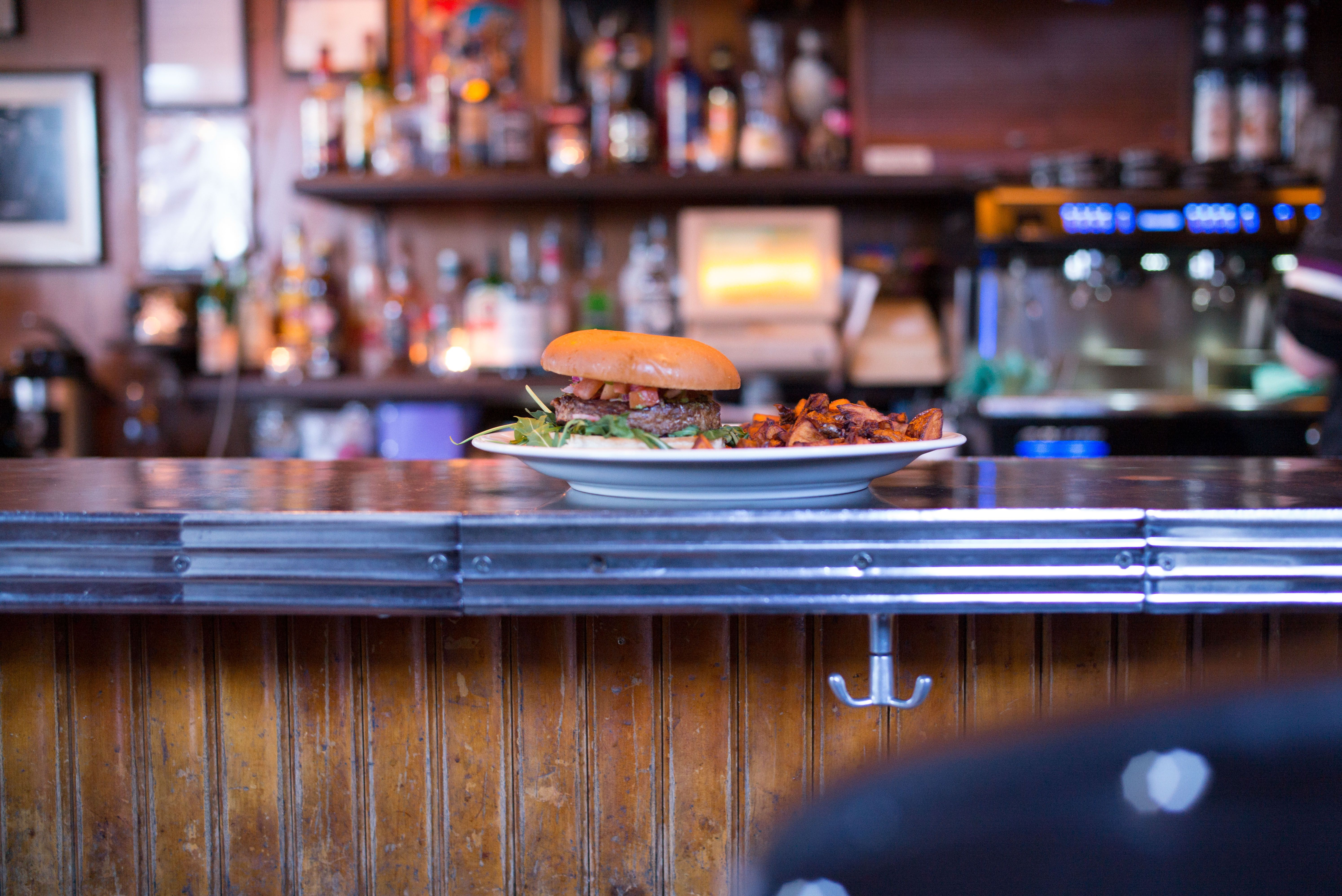 Burger at Prikið in Reykjavik