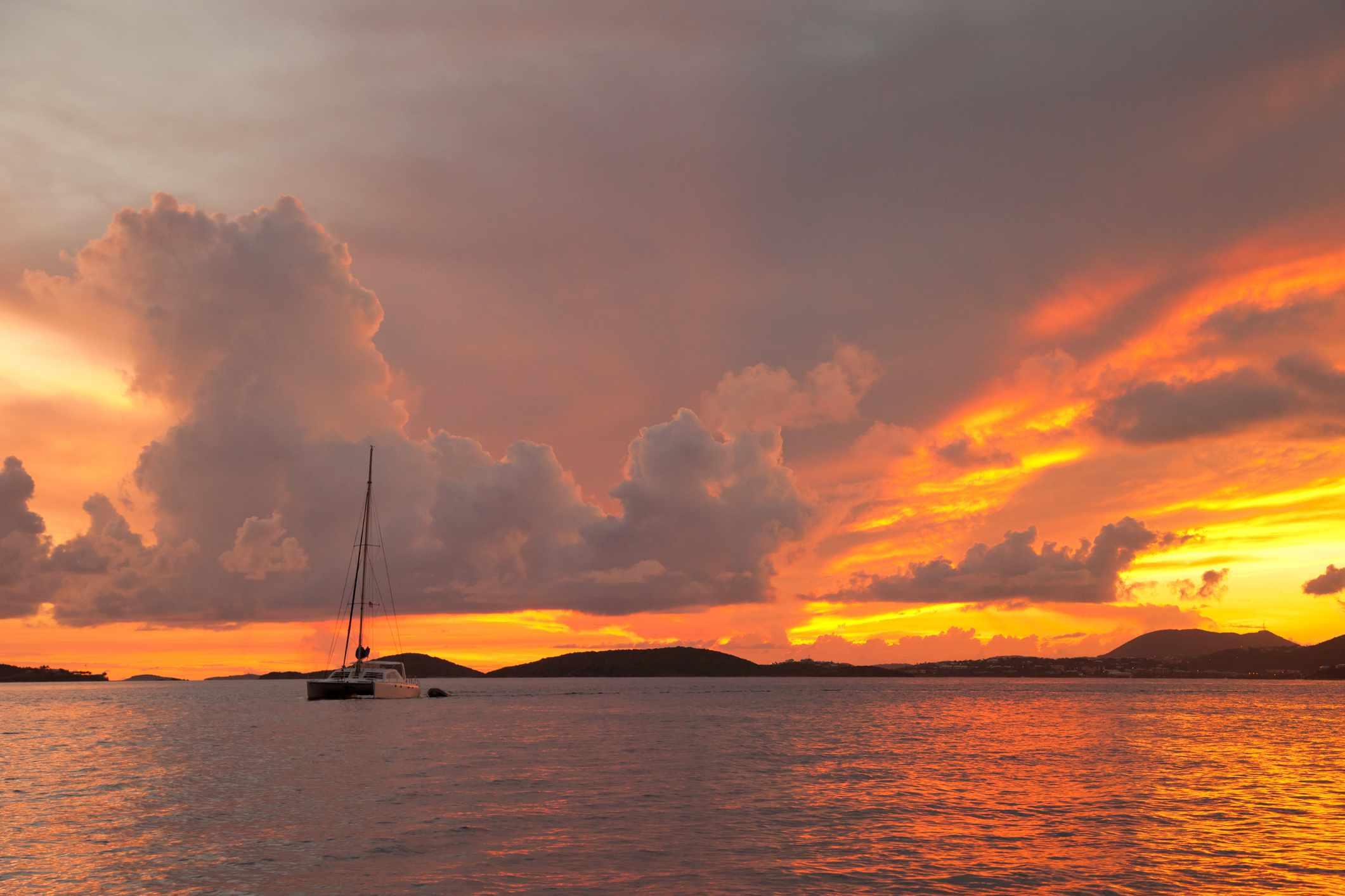 Seaside sunset in the U.S. Virgin Islands