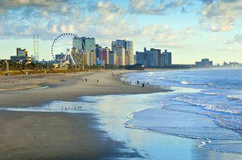 Usa South Carolina Myrtle Beach Ferris Wheel On Grand Strand