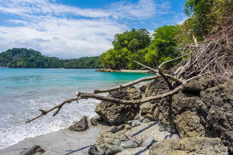 Beautiful beach scene in Playa Biesanz, Costa Rica