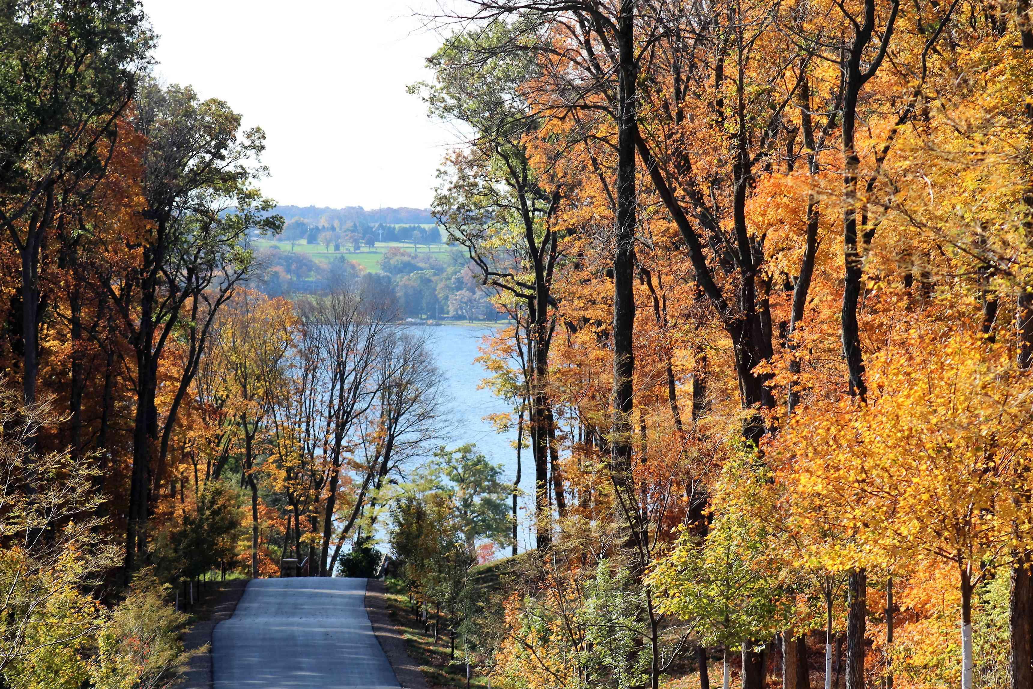 Lake Geneva in fall