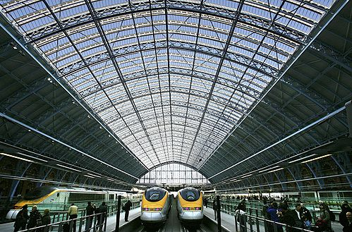 Eurostar High Speed Trains at St Pancras, London