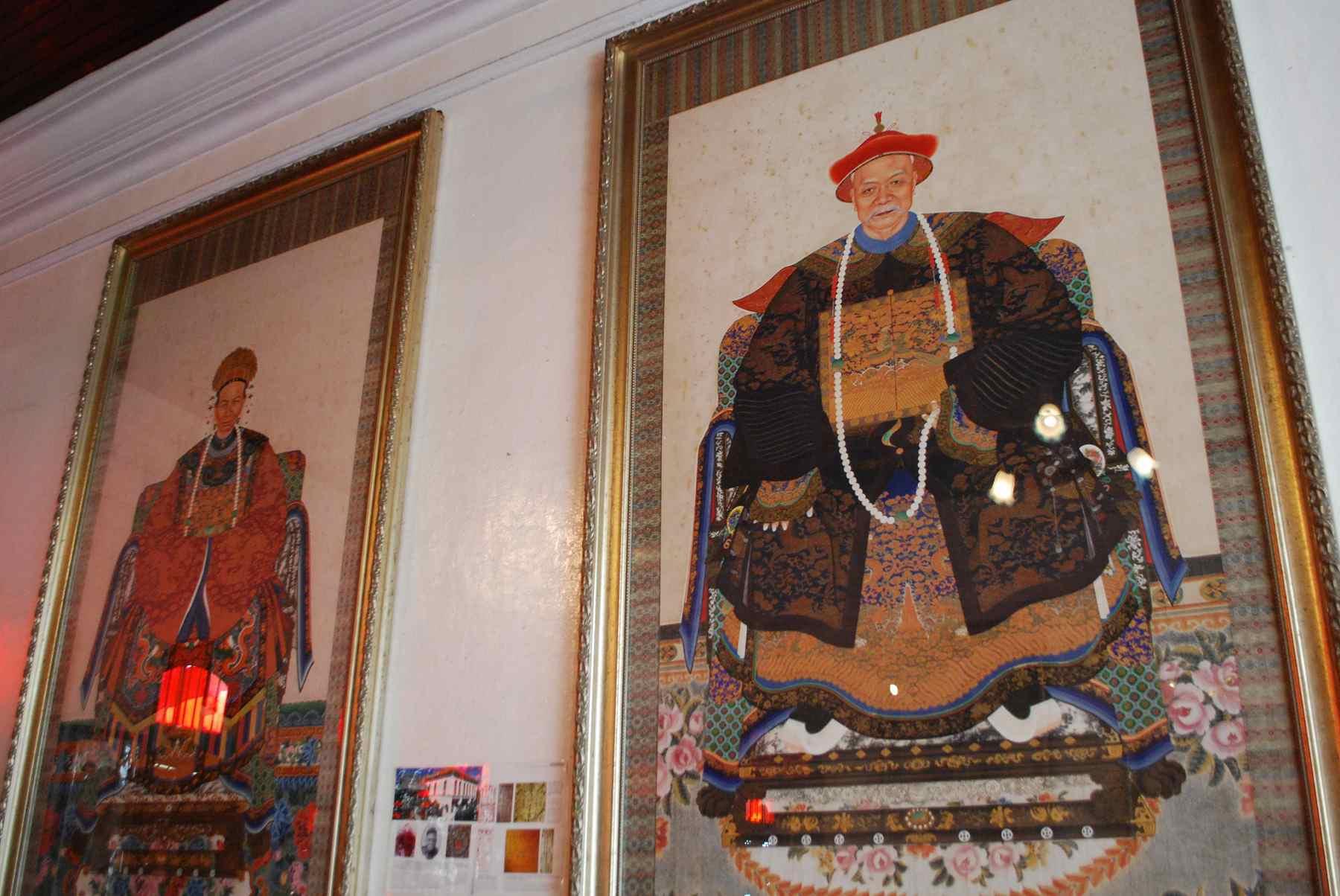Ancestors' portraits at the Peranakan Museum