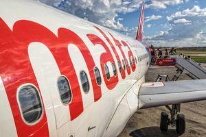 Air Malta plane at Malta International Airport