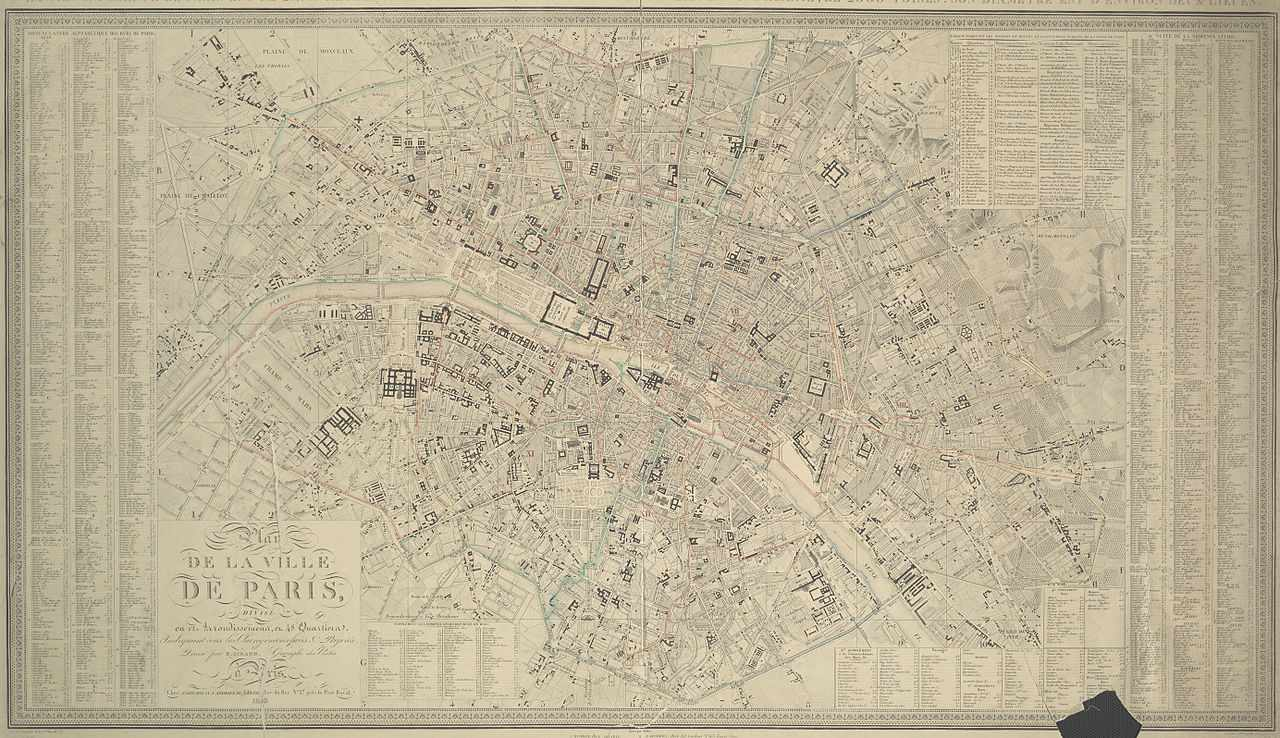 1843 plan of pre-Haussmann Paris
