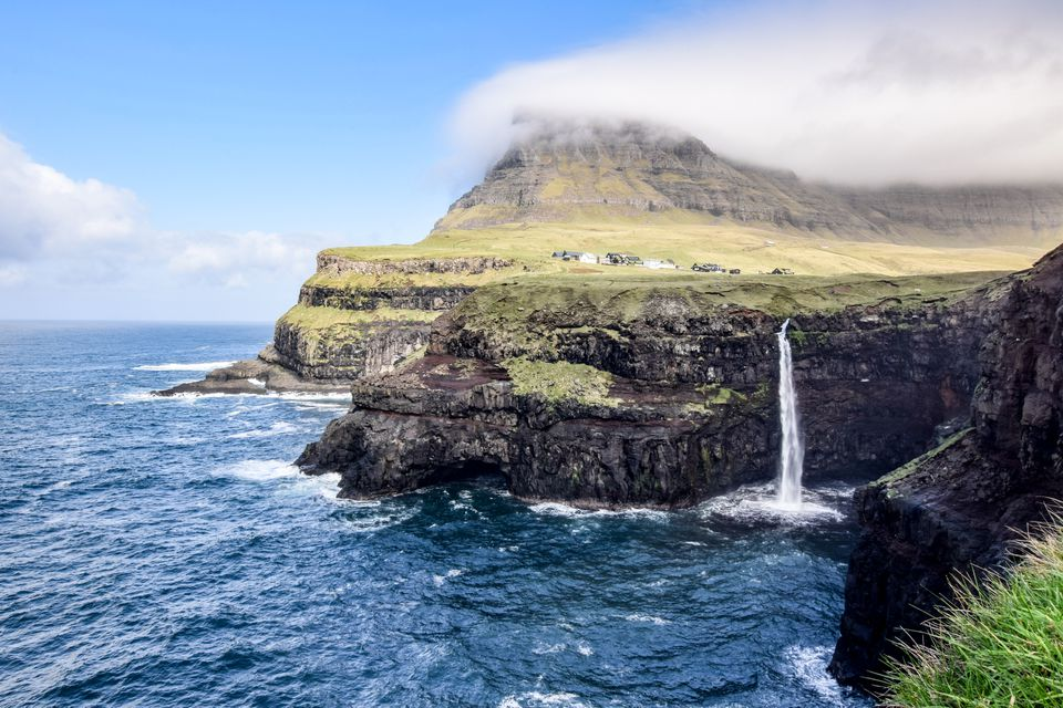 Gasadalur waterfall on Faroe Islands