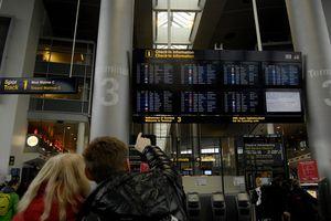 SAS workers on strike in Copenhagen Denmark
