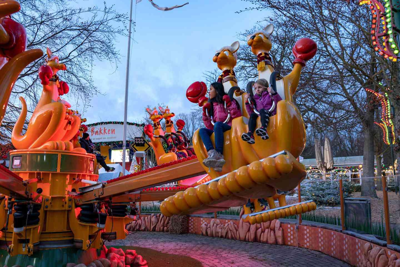 Spinning ride at Bakken amusement park