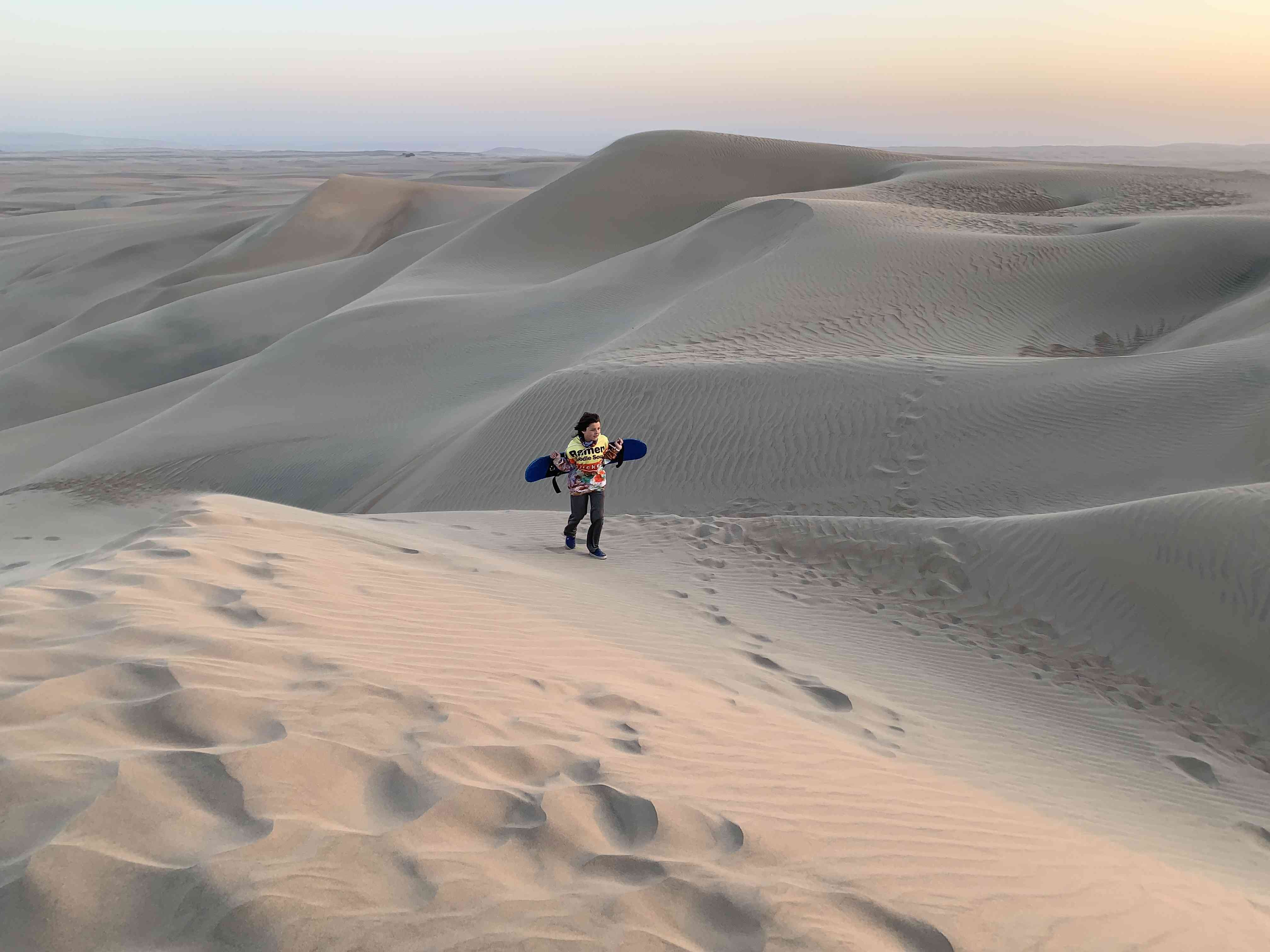 Sand Boarding in Paracas, Peru