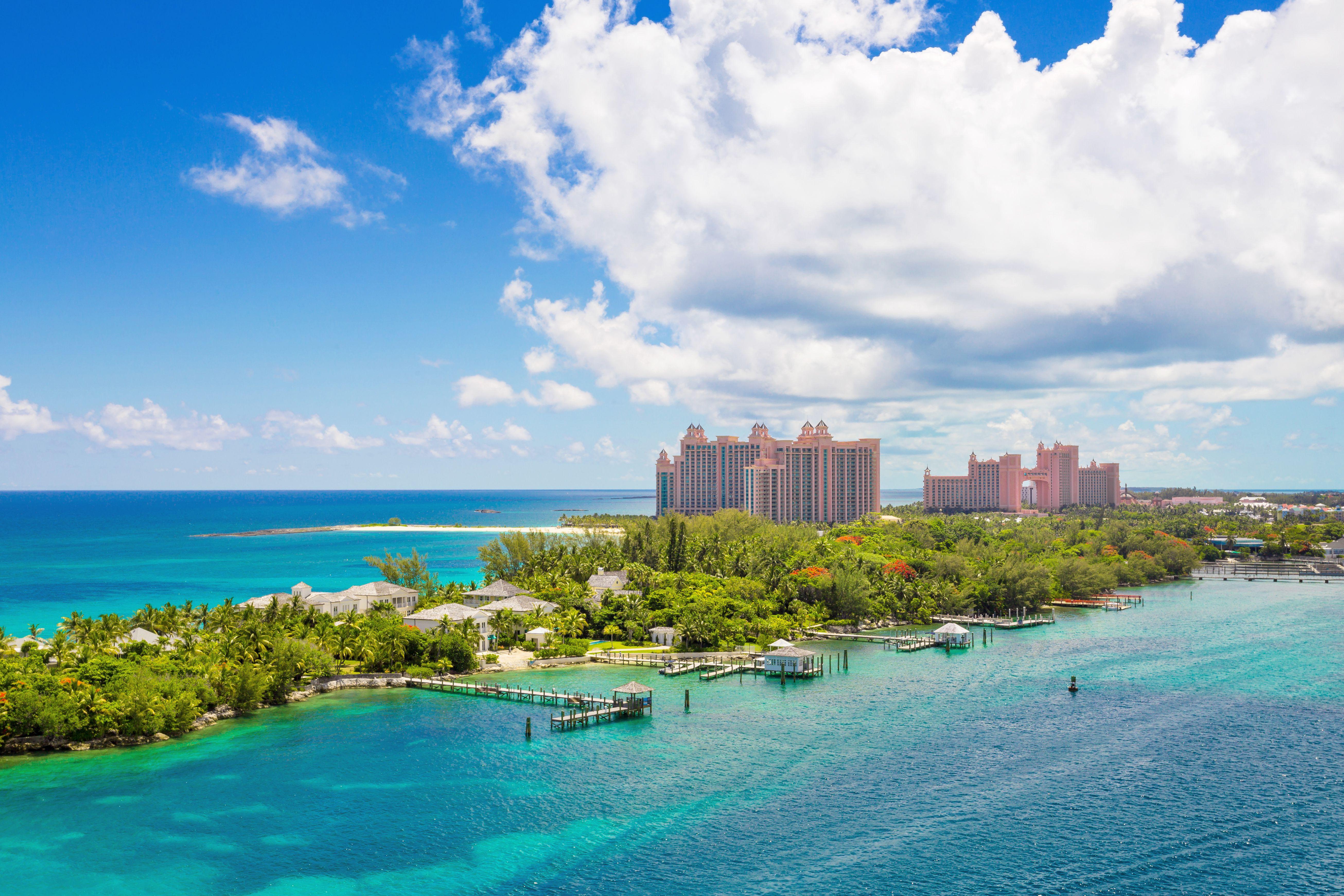 Bahamas tropical beach scenery at Nassau, caribbean