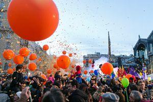 La Taronjada carnival celebration in Barcelona