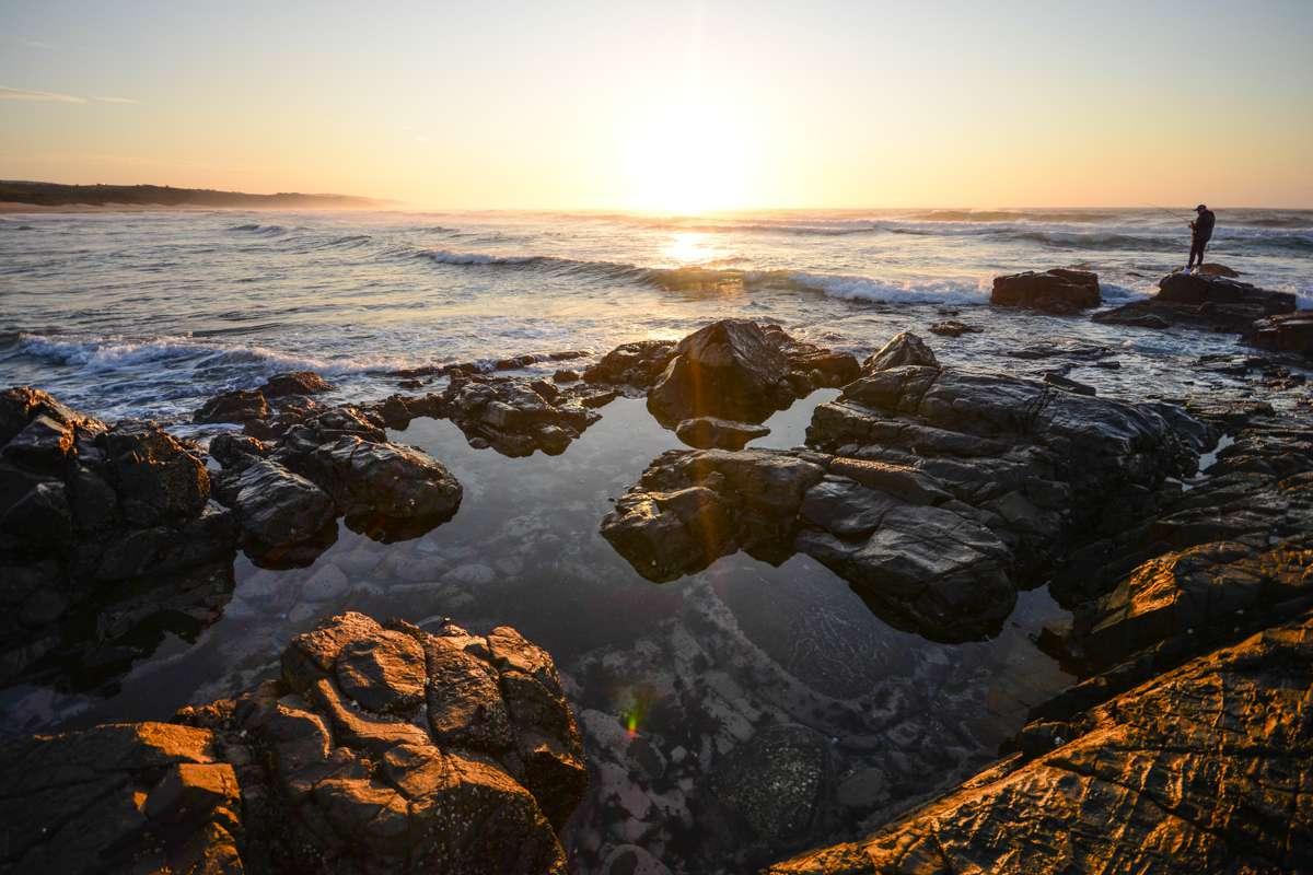 Sunset over the ocean in Transkei