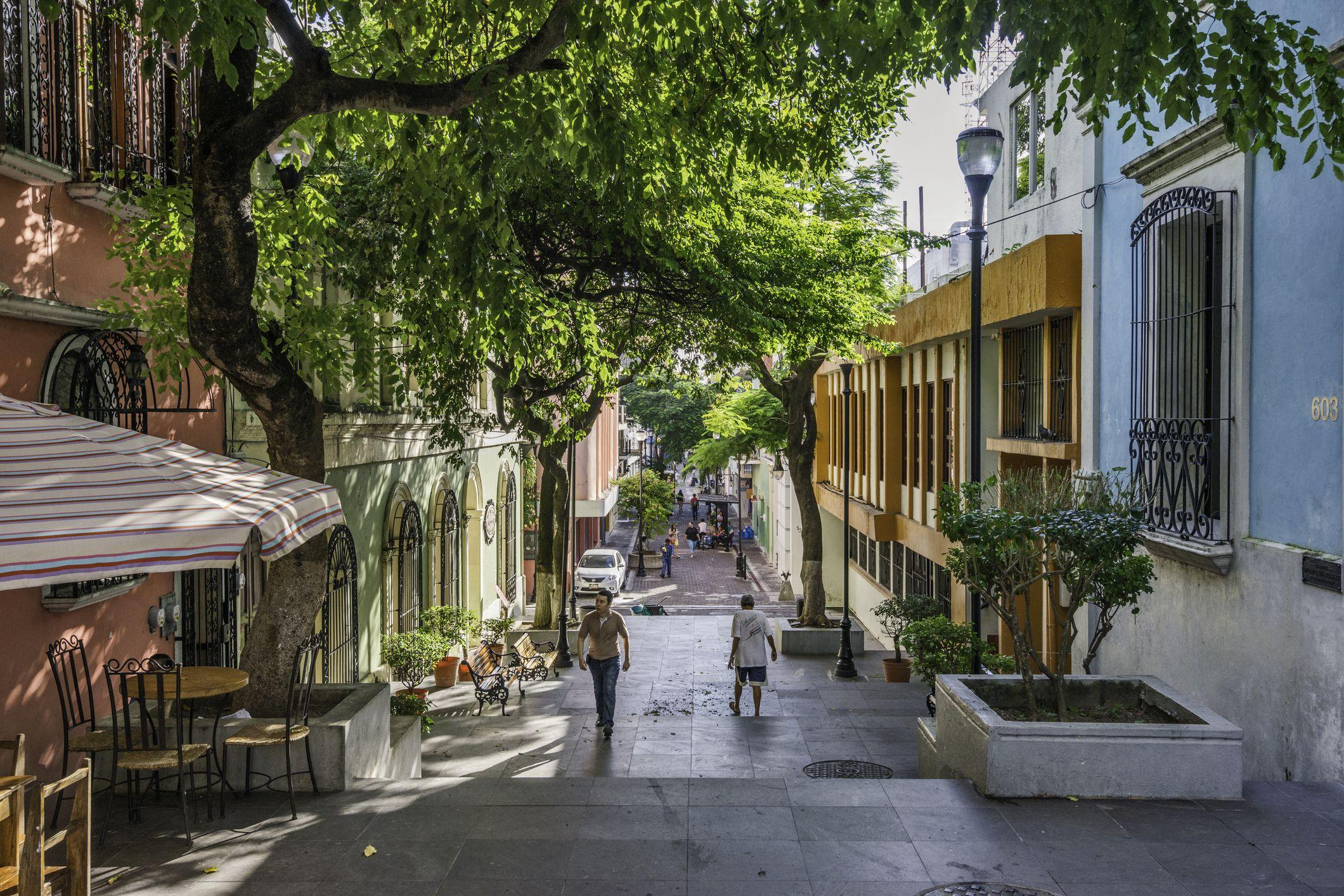 Calle Tejada in Villahermosa, Tabasco, Mexico