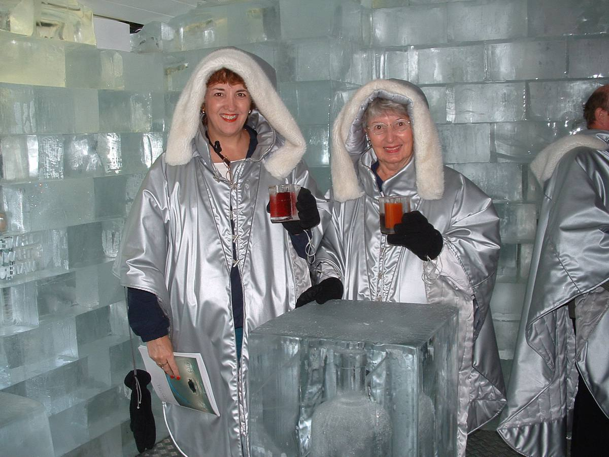 Ice Bar in Stockholm at the Hotel C