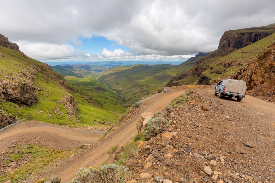 La parte superior de Sani Pass
