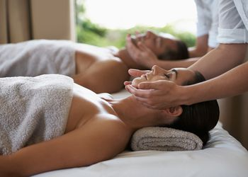 a couple getting massages