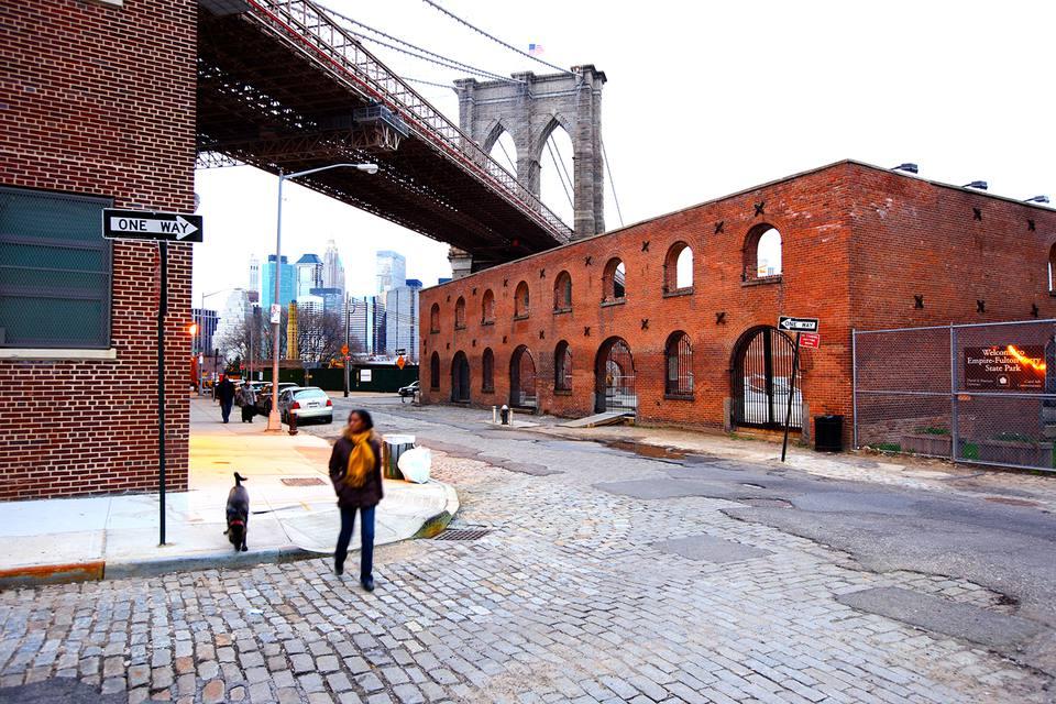 Área de Dumbo cerca del puente de Brooklyn y Manhattan
